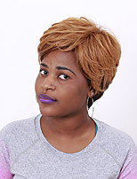 Pixie Wig Flaxen Yellow Short Wig for Afro Women Heat Resistant Popular Hairstyle