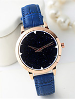 Women's Fashion Watch Quartz Leather Band Cool Casual Black White Blue Red Brown Brand
