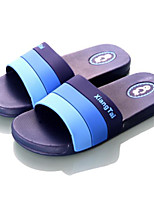 Men's Slippers & Flip-Flops Summer Slingback Rubber Casual Flat Heel Blue Red Black