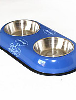 Cat Dog Bowls & Water Bottles Feeders Pet Bowls & Feeding Waterproof Portable Blue Red