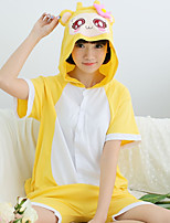 Kigurumi Pajamas Monkey Leotard/Onesie Festival/Holiday Animal Sleepwear Halloween Yellow Patchwork Cotton Kigurumi For Unisex Carnival