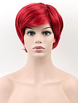 Short Wigs Red Color Cosplay Synthetic Wigs Fashion Sexy Women Straight Hair