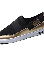 Черный Черный и золотой Черно-белый-Для мужчин-Повседневный-Ткань-На плоской подошве-Удобная обувь-Мокасины и Свитер