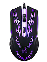 Игровая мышь профессиональный 1200 точек на дюйм 1,2 м проводной LOL игры USB красочные светодиодные лампы дыхания ноутбук ноутбук мода 4d