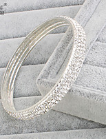 Femme Bracelets Rigides Mode Strass Forme de Cercle Bijoux PourMariage Soirée Occasion spéciale Anniversaire Fiançailles Sports Regalos