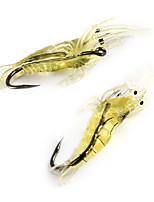 10 pcs Soft Bait Fishing Lures Soft Bait White Yellow g/Ounce mm/1-5/8