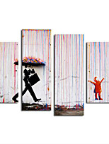 Art Print Abstract Modern,Four Panels Horizontal Print Wall Decor For Home Decoration