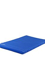 Feuchtigkeitsundurchlässig Wasserdicht Transportabel Klappbar Aufgeblasene Matte Camping Polster Schlafpolster Dunkelblau HellblauWandern