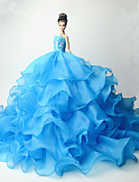 Party/Evening Dresses For Barbie Doll Solid Dresses For Girl's Doll Toy