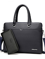 Men PU Formal Casual Event/Party Office & Career Bag Sets Black Blue