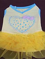 Dog Dress Dog Clothes Spring/Fall Hearts Cute