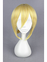 Short Straight Love Live!-Ayasei Eli Gold Synthetic 14inch Anime Cosplay Wig CS-181D