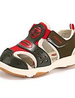 Boys' Sandals Comfort PU Summer Outdoor Comfort Flat Heel Army Green Blue Blushing Pink Flat