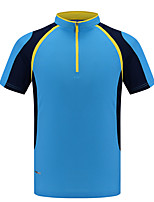 LEIBINDI®Men's Short Sleeve Running T-shirt Breathable Quick Dry Wearable Comfortable Summer Sports Wear Exercise & Fitness Leisure Sports Running