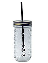 301-400ml Diamond Lattice Transparent Coffee Glass Cup