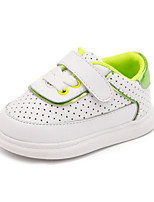 Kids' Baby Athletic Shoes Comfort Leatherette Spring Fall Athletic Casual Comfort Flat Heel Green Blushing Pink Flat