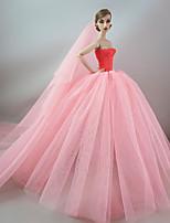 Свадьба Платья Для Кукла Барби Для Девичий игрушки куклы