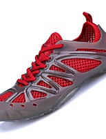 Men's Athletic Shoes Summer Light Soles Rubber Tulle Outdoor Upstream shoes Low Heel Hollow-out Dark Blue Red Green