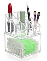 Коробка с косметикой Others Хранение косметики Однотонный Квадрат Акрил Бисквитный