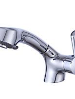 עכשווי סט מרכזי מקלחת גשם with  שסתום קרמי חור ידית אחת אחת for  כרום , חדר רחצה כיור ברז