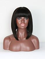 180% de densidade curta glueless rendas front perucas de cabelo humano com cabelos de bebê cabelo virgem brasileiro bob wigs branqueados