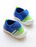 Kids' Baby Loafers & Slip-Ons First Walkers Fabric Spring Summer Casual First Walkers Flat Heel Green Blue Blushing Pink 1in-1 3/4in
