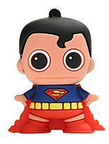 Novo cartoon criativo superman usb2.0 64gb flash drive u memory stick disco