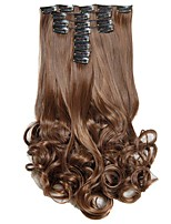 Synthetic Hair False Hair Extensions 20inch 150g Curly Hairpiece Heat Resistant Hair D1022  4/30#