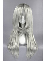Fantasy finale vii advent enfants-kadaj siver gris anime 26inch cosplay perruque cs-162f