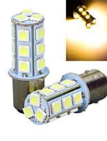 2pcs 1157 18 * 5050smd führte Auto-Glühlampe warmes Licht dc12v