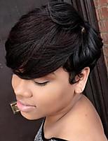 DIY освежающий короткие волосы пушистые человеческие волосы парик элегантные волосы женщины