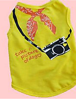 Dog Vest Dog Clothes Spring/Fall Plaid/Check Cute Fashion Casual/Daily Light Green Blushing Pink Yellow
