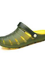 Men's Clogs & Mules Spring Summer Slingback PVC Outdoor Office & Career Casual Flat Heel Blue Green Black