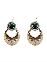Vintage Women  Circular Sector  Drop Earrings