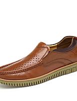 Темно-русый Темно-коричневый-Для мужчин-Повседневный-ПолиуретанУдобная обувь-Кеды