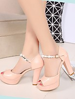 Women's Heels Spring Club Shoes Formal Shoes PU Casual Light Pink White
