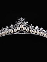 Strass Legierung Künstliche Perle Kopfschmuck-Hochzeit Tiara