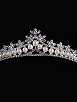 Rhinestone Alloy Imitation Pearl Headpiece-Wedding Tiaras 1 Piece