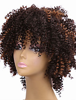 Afro Black To Brown Color Wigs For Black Women Synthetic Curly Synthetic Women European Wigs
