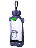 Garrafa de suco de água de vidro portátil dos desenhos animados 350ml