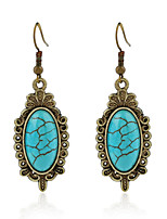 Earrings Set Turquoise Fashion Adorable Simple Style Alloy Jewelry For Wedding Party Birthday Gift 1 pair