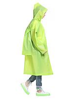 Unisex esporte impermeável / poncho impermeável à prova de chuva confortável grossa verde m l xlcamping / caminhadas caça pesca de
