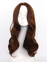 Fashion Sexy Women Wigs Ombre Natural Hair Heat Resistant Synthetic Wigs High Quality Brown Color Long Wave Wigs