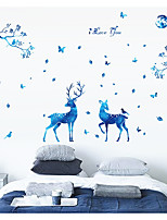Blue Stars Deer Nordic Modern Living Room Bedroom TV Setting Porch Is decorated Wall Stickers