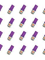 20Pcs T10 5*5050 SMD LED Car Light Bulb Purple Light  DC12V