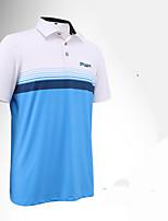 Homme Manches courtes Golf T-shirt POLO Respirable Design Anatomique Anti-transpiration Doux ConfortableNoir/Blanc Noir/blanc Rouge +