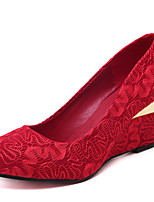 Femme-Mariage--Talon Compensé-Flower Girl Chaussures-Chaussures à Talons-Tissu