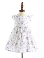 Girl's Casual/Daily Print Dress,Cotton Summer Sleeveless