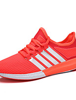 Women's Sneakers Spring Summer Light Soles Tulle Athletic Flat Heel  Pink/White Red Black Running Shoes