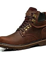 Кофейный Темно-русый-Для мужчин-Для прогулок Для офиса Повседневный Для вечеринки / ужина Work & Safety-Наппа LeatherУдобная обувь-Ботинки